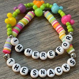 Disney Inspired Bracelets I'm Here For The Snacks